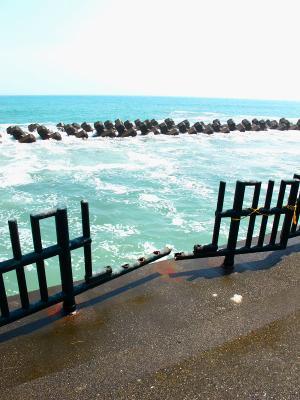 130712 用宗港ポタ 広野海浜公園壊れていた柵