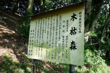 2013/08/18藁科川ポタリング_木枯の森の説明
