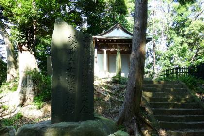2013/08/18藁科川ポタリング_木枯の森の祠と石碑