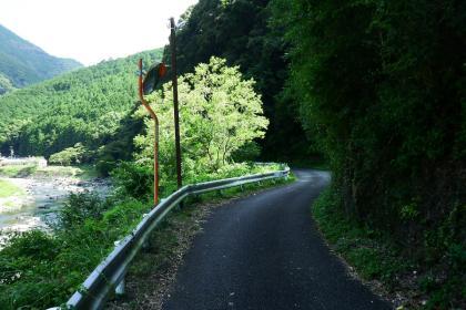 2013/08/18藁科川ポタリング_この先急登で引き返してきた道