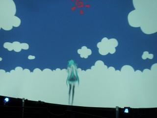 20131023_MMDドーム投影実験会:ドーム対応動画投影2(どんぶり空)