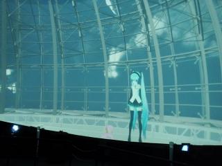 20131023_MMDドーム投影実験会:ドーム対応動画投影4
