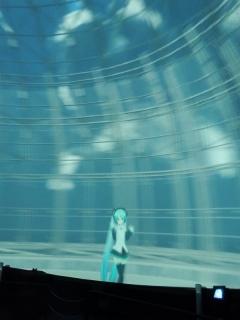 20131023_MMDドーム投影実験会:投影中