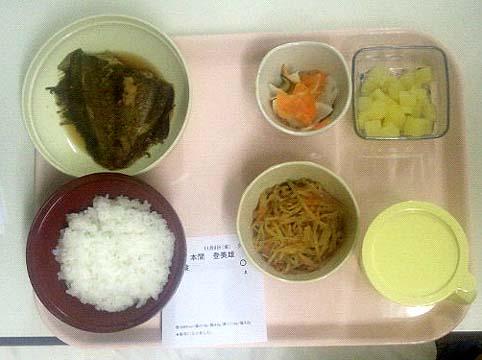20131108 病院食 夕食 17cm 17470000