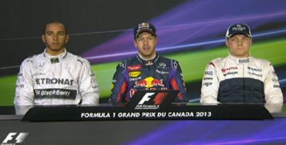カナダgp予選トップ3