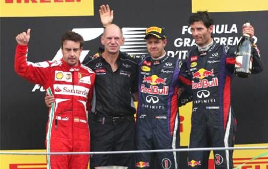 イタリアGP決勝表彰台