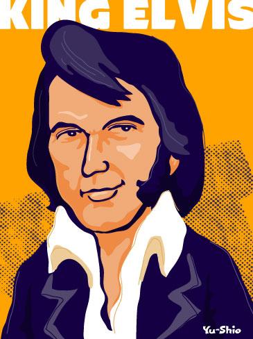 Elvis Presley caricature