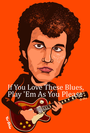 Michael Bloomfield Caricature