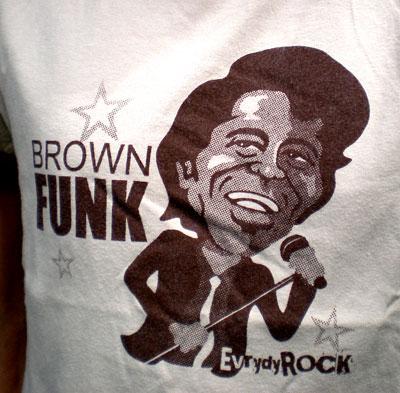 James Brown EverydayRock T Shirt Caricature