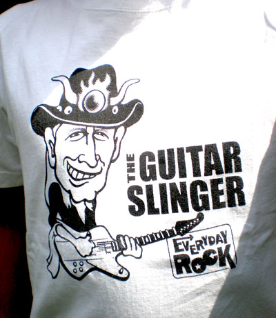 Johnny Winter EverydayRock T Shirt Caricature
