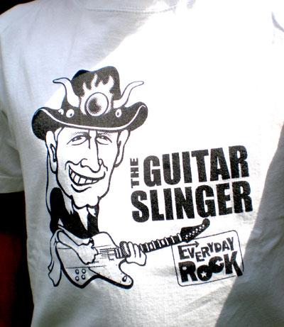 EverydayRock T Shirt Johnny Winter Caricature
