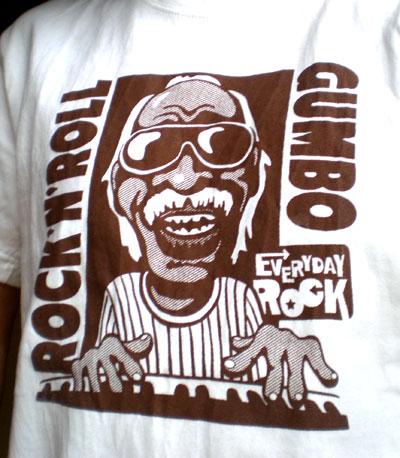 Professor Longhair EverydayRock T Shirt Caricature