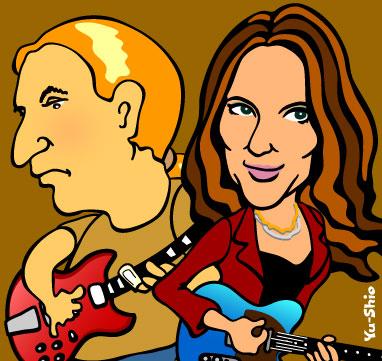 Susan Tedeschi Derek Trucks caricature