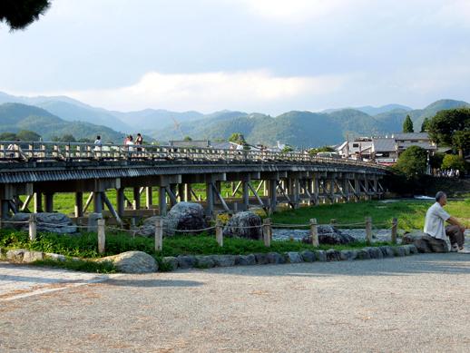 嵐山公園からの渡月橋