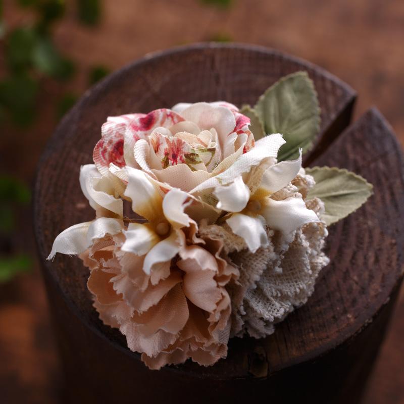POK-01-04 コサージュマルティ花柄ピンク