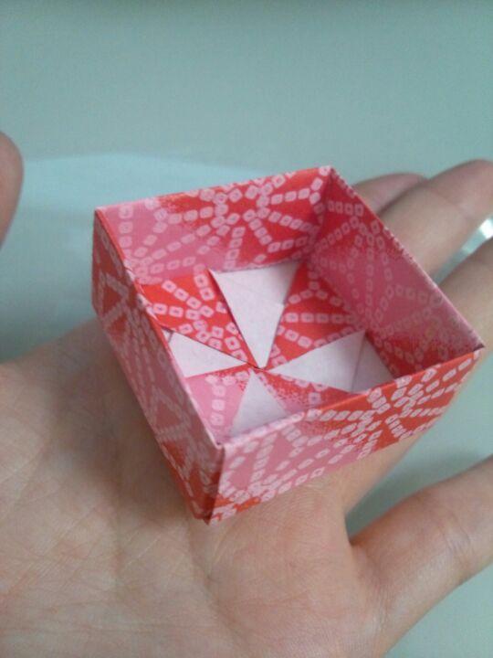 すべての折り紙 折り紙 風車 作り方 : 箱の作り方があったので、風車 ...