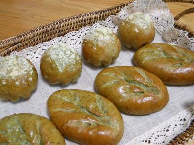 20130418よもぎパン
