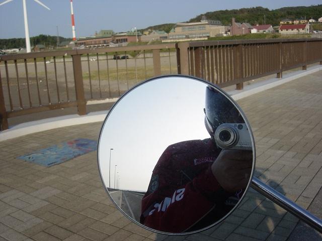 岩城漁港バックミラー