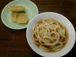 かけうどん一玉(普通麺)&安納芋天ぷら@名もないうどん屋