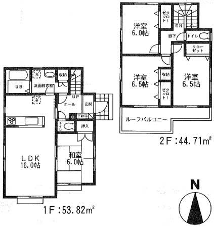 成田3-4間取図