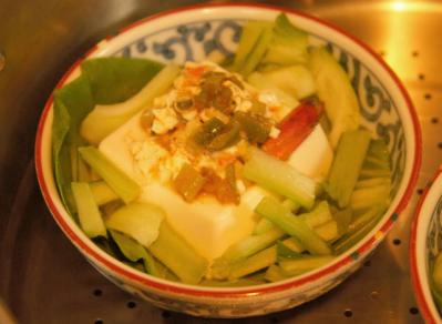 蒸蝦豆腐セッティング