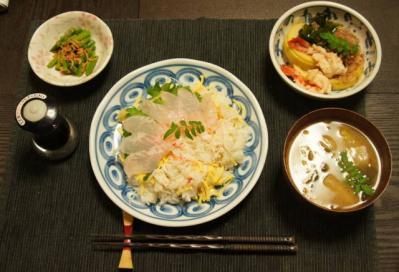 若竹ちらし寿司セット