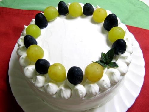 ブドウのシンプルケーキ-1