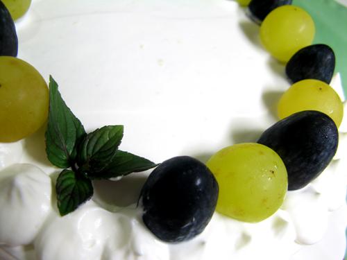 ブドウのシンプルケーキ-2