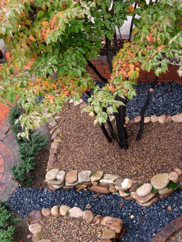 石積み花壇完成-10