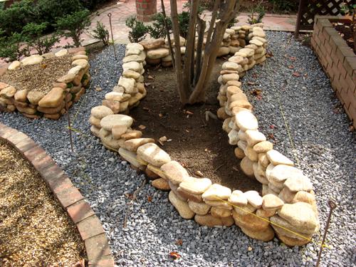 石積み花壇完成-2