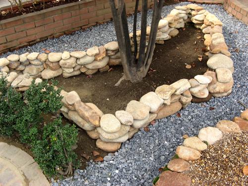石積み花壇完成-3