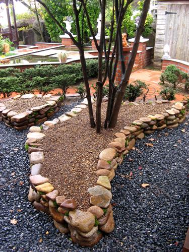 石積み花壇完成-6