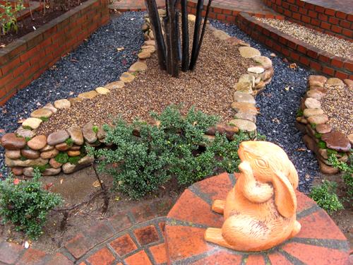石積み花壇完成-7