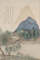 夏目漱石『山上有山図』