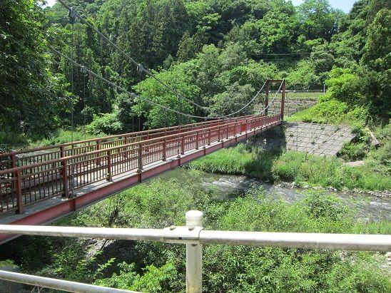 東母袋子から望む新井田川