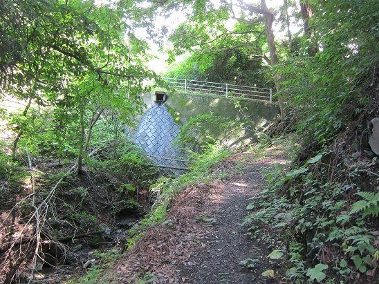 是川 東母袋子への山道