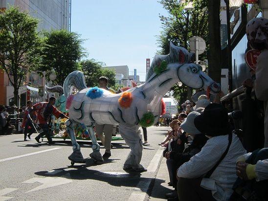 八戸市で馬市祭り