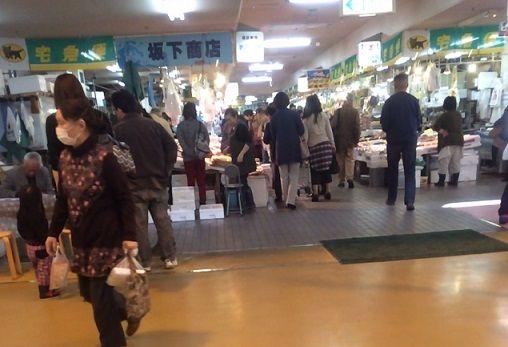 八食センター鮮魚店入口