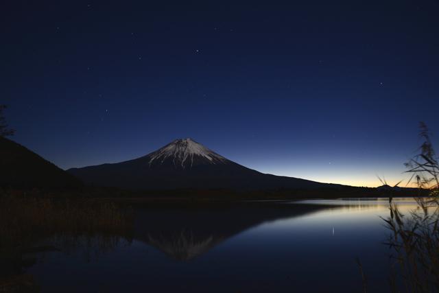 富士夜明け