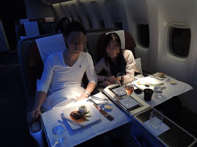 機内食ディナー7