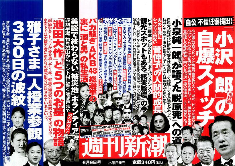 「バカ騒ぎ『AKB48』総選挙の裏に『酒と男』の私生活」(『週刊新潮』2011/6/9号)