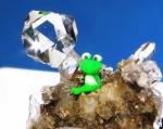 カエルと松茸水晶