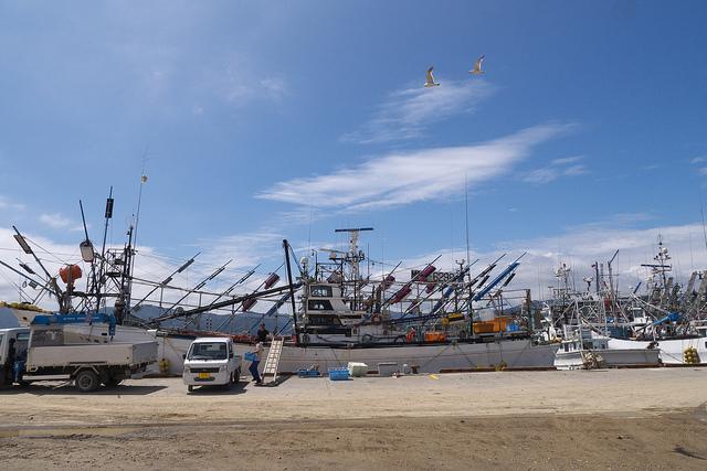 3出漁サンマ漁船