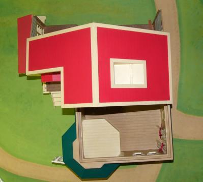 木もれ日赤い屋根の大きなお家