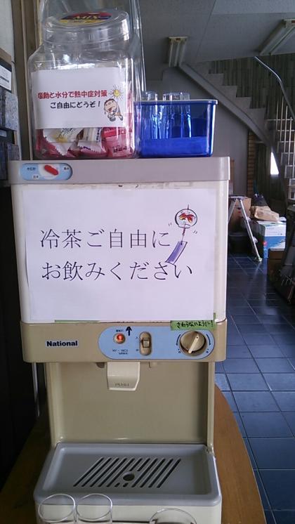 冷茶コーナーです