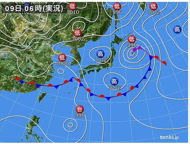 2013.6.9天気図 (606x460)