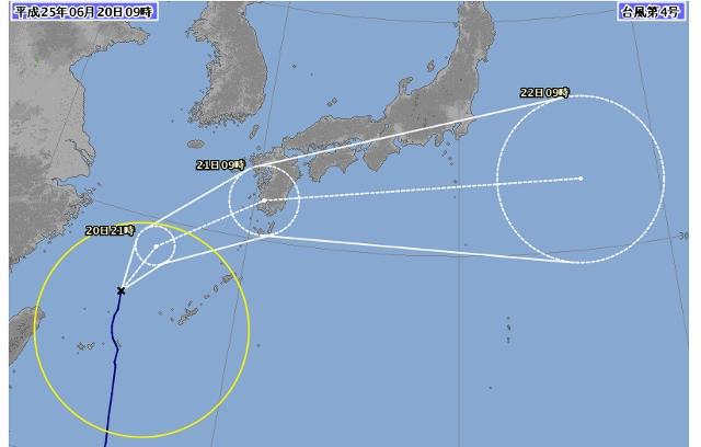 2013.6.20台風4号 気象庁 (640x408)
