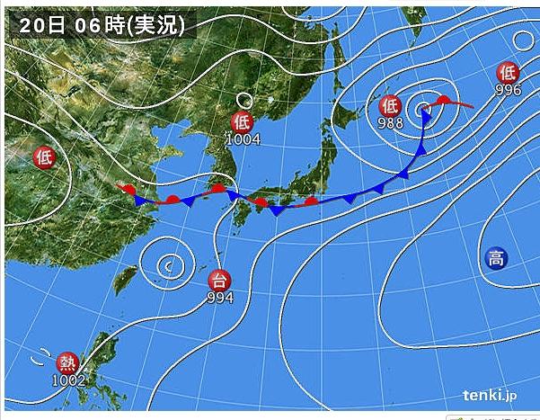 2013.6.20 天気図 (601x467)