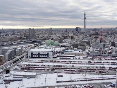 南千住の雪
