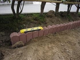 生垣DIY ブロック並べ